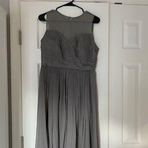 J.Crew gray bridesmaid dress